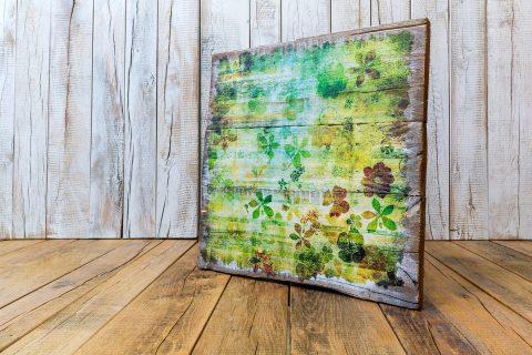 Holzbilder aus Upcycling Palettenholz sind ein besonderer Blickfang in Wohnräumen und im Büro