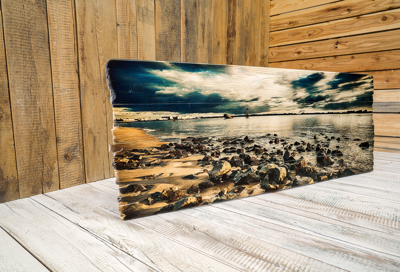 Fotodruck auf Holzlatten aus Fichtenholz mit einen effektvollen, natürlichen und lebendigen Touch