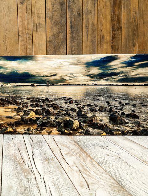 Dein Motiv erstrahlt beim Druck auf Holzlatten in einem besonders natürlichen Look