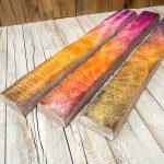 Der Druck auf Holzbalken ist ein kreativer und bislang noch total unüblicher Blickfang