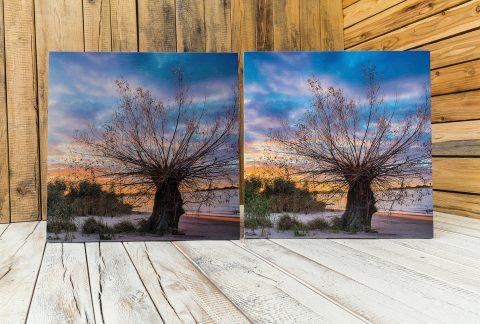 Druck von Fotos, Bildern und Design. Jedes Motiv wird auf das jeweilige Holz und die Holzfärbung fein abgestimmt