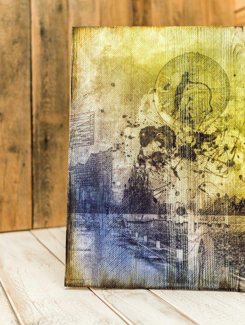 Kunst auf Holz Hamburg Landungsbrücken