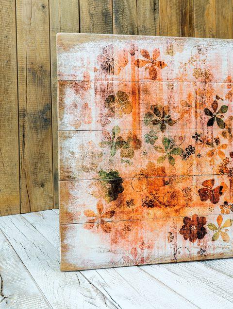 Der Druck auf Holzlatten ist mit seinem Look ein ungewöhnliches und originelles Verfahren