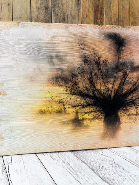 Kunst auf Holz - Mit Holzbildern Leben ins Büro bringen. Naturbelassene und harmonische Wandbilder für Konferenz- und Besprechungsräume
