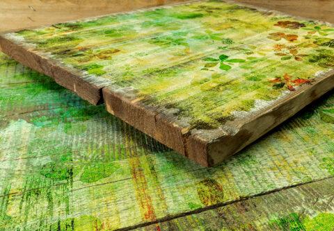 Vorgeweißtes Vintage Holz im Shabby Chic