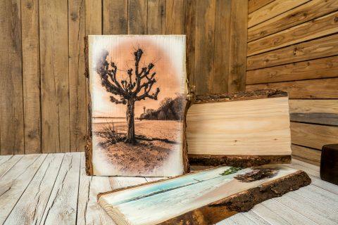 Massivholz Douglasie Weiß mit Vintage-Look